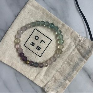 Fluorite crystal bracelet small beads